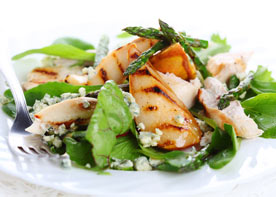 Spinach and Asparagus Salad with Chicken